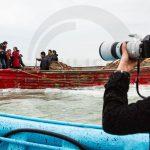 عکاسان تهرانی در حال عکاسی از شرکت تعاونی ماهیگیران پره خرم در استان مازندران - عکاس: مهری راستقدم