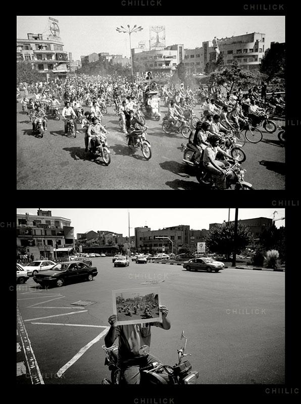 چهارمین جشنواره عکس زمان - سروش جوادیان ، راه یافته به بخش انقلاب اسلامی در گذر زمان | نگارخانه چیلیک | ChiilickGallery.com