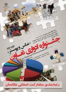 رتبه بندی استانها در مشارکت جشنواره تعاون