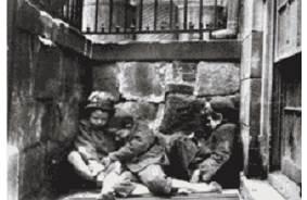 ژاکوب ریس. اعراب خیابانی در حال خواب در محله ها