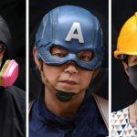 نقاب بر چهره معترض ها